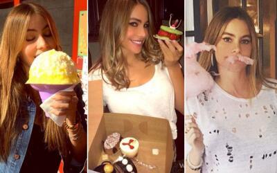 Sofía Vergara comiendo