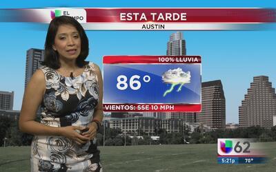 Continuarán las lluvias en Texas
