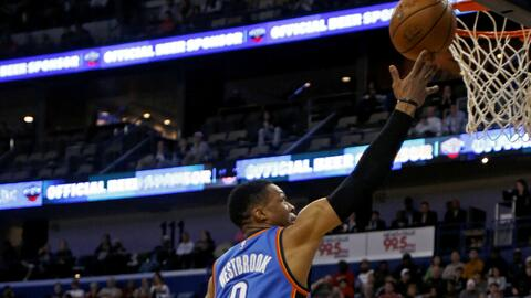 Russell Westbrook impresionó con 42 puntos
