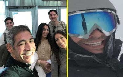 Así fueron las divertidas vacaciones de Johnny y su familia en la nieve
