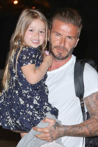Pero la consentida de la mansión Beckham es Harper, está hermosa.