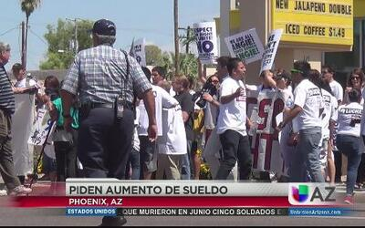 Trabajadores de Arizona se suman a la protesta nacional