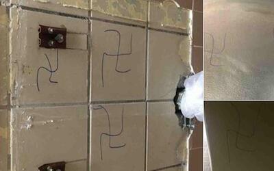 La policía investiga estas esvásticas dibujadas en Nassau...