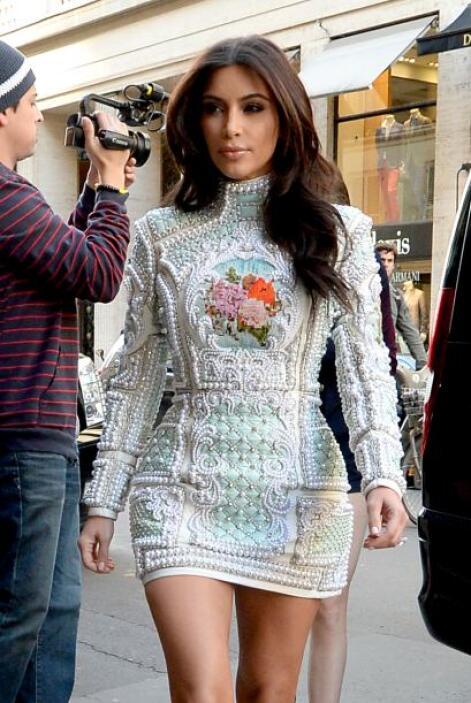 """La Kardashian comentó que se sentía """"bendecida"""" por todos estos festejos..."""