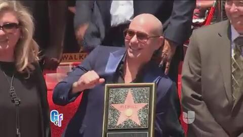 Pitbull confesó por qué se emocionó tanto al recibir su estrella en el p...
