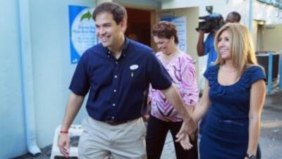 Marco Rubio llegó con el respaldo del Tea Party.