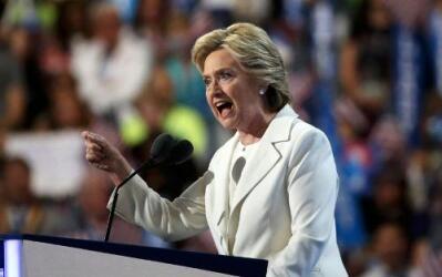 Hillary Clinton aceptó la candidatura demócrata a la presidencia de EEUU...