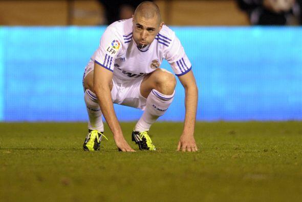 Benzema no estuvo tan fino como en los últimos partidos.