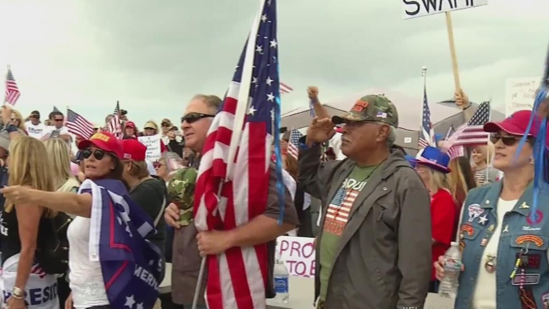 Enfrentamientos entre grupos a favor y en contra de Donald Trump
