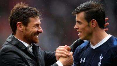 Villas Boas y Gareth Bale.