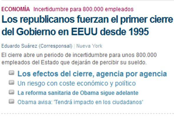 """En tanto, el también español """"El Mundo"""" destaca el riesgo..."""