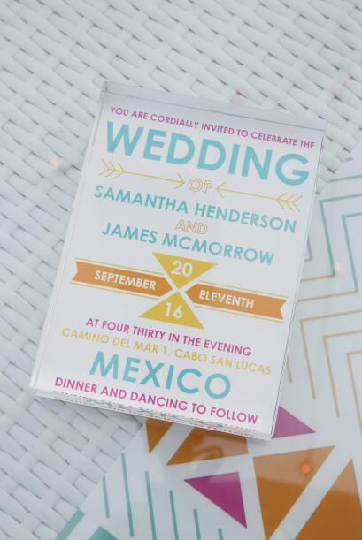 Si tu boda es menos solemne, juega con tipografías modernas y col...