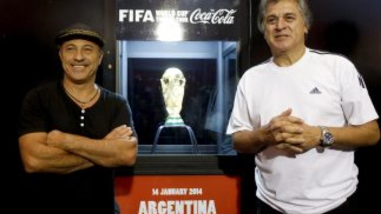 Dos referentes de las dos copas del mundo ganadas por Argentina, la de 1...