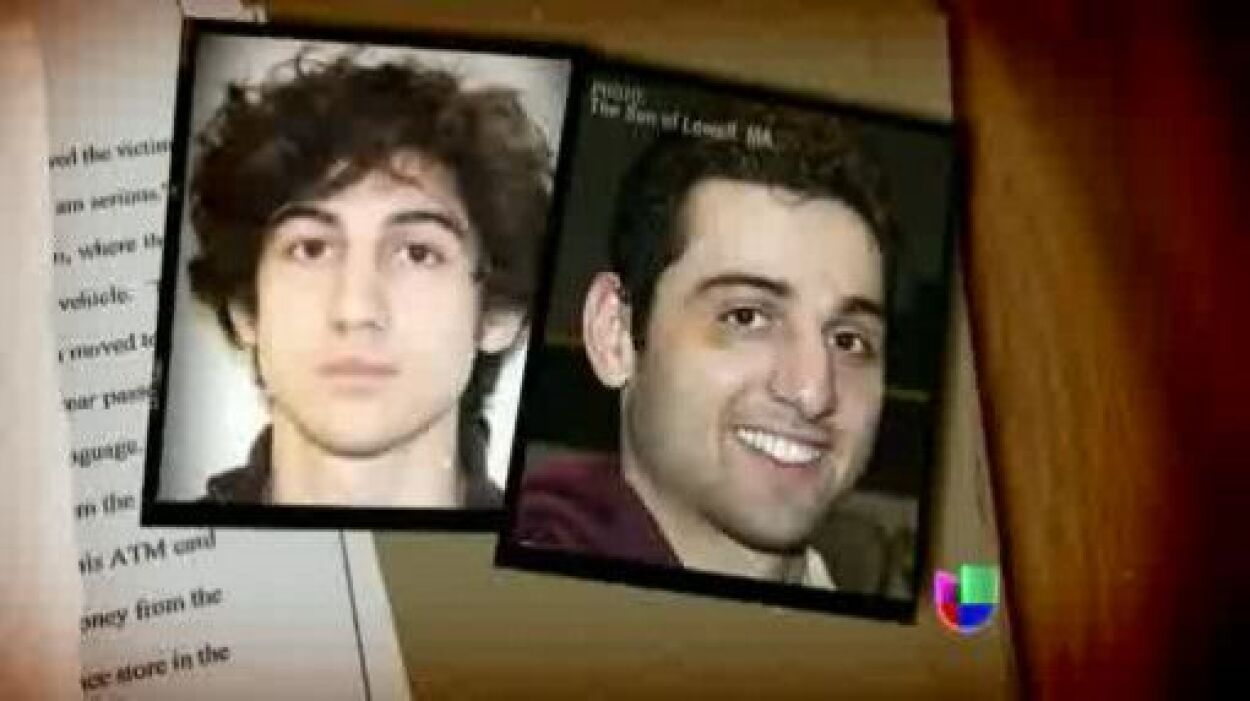 Los hermanos Tsarnaev, sospechosos de ser los autores de los atentados e...