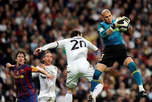 Víctor Valdés respondió bien a los pocos ataques peligrosos del Real Mad...