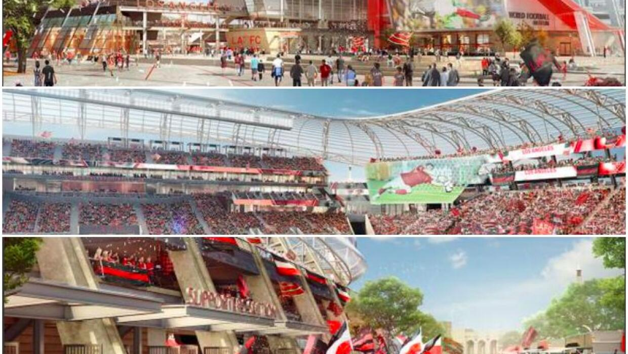 Renderings del estadio de LAFC