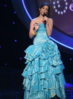 En sus vestidos se aprecian los detalles, como es el caso de este diseño...