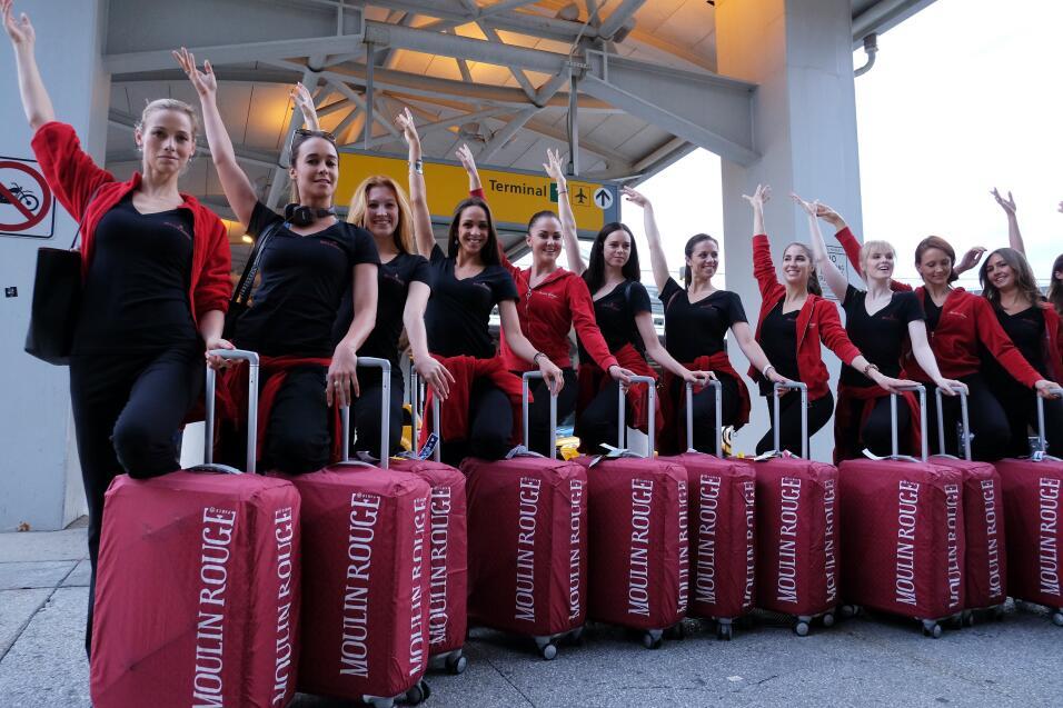 El aclamado grupo francés llegó al aeropuerto JFK de Nueva York listo pa...