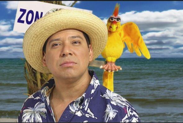 El Costeño tiene un look playero, sombrero de paja, camisa floreada, ber...