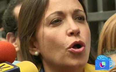 María Corina Machado vuelve a lanzar duras criticas en contra de Nicolás...