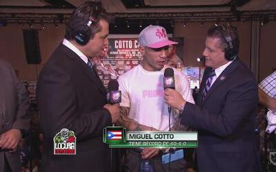 Miguel Cotto: 'Verán la mejor versión de Miguel Cotto'