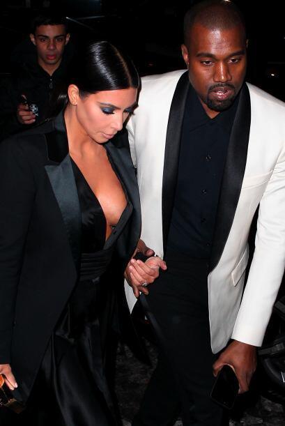 Kim Kardashian escotada