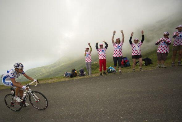La entrega de los aficionados es parte de este exhaustivo Tour de Francia.