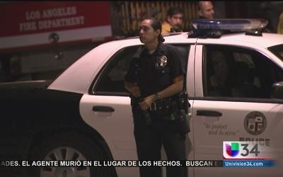 Sospechoso enfrentó a la policía en Echo Park
