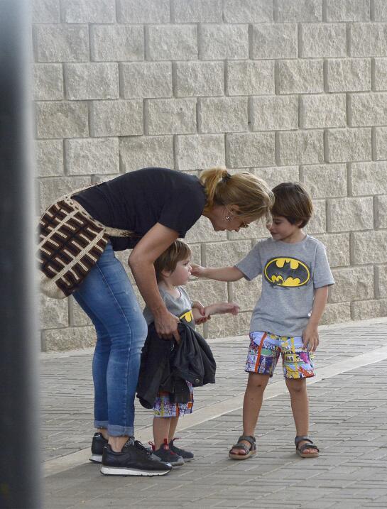 Shakira y sus hijos Milan y Sasha