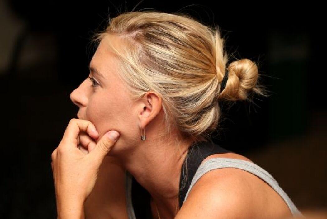 La pose que hizo Sharapova para la revista antes mencionada la tiene tan...