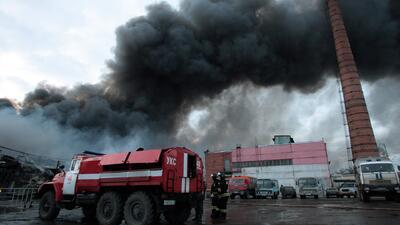 Cuatro muertos y varios heridos por incendio en centro comercial ruso