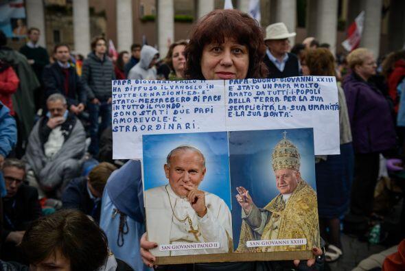 El papa Francisco respiró hondamente e hizo una pausa momentánea antes d...