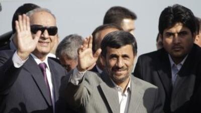 El presidente de Irán, Mahmud Ahmadinejad, realiza su primera visita ofi...