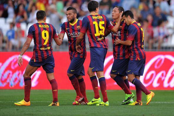 Adriano hizo el segundo del Barcelona.