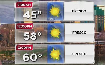 Lluvias y bajas temperaturas este miércoles en Sacramento