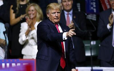 Donald Trump en un evento en Jackson, Mississippi, el 24 de agosto de 2016.
