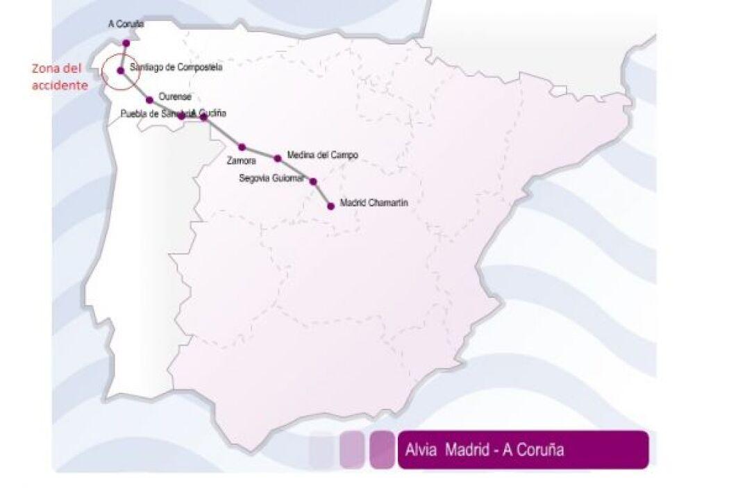 Mapa del lugar donde ocurrió el accidente.