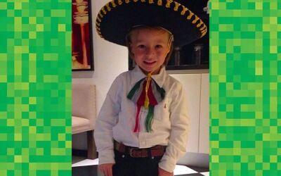 Así festejó Mateo la Independencia de México.