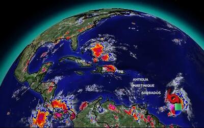 Tormenta Chantal se desplaza hacia El Caribe
