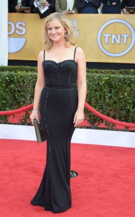 Ahora sí, Amy Pohler lució mucho mejor en la alfombra roja. Este vestido...