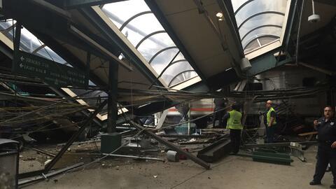 Plataforma dañada del terminal de Hoboken, Nueva Jersey, será reabierta...