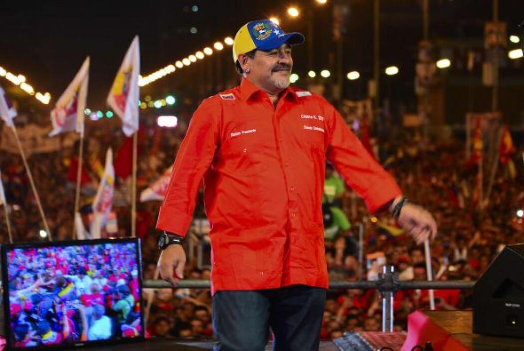 Maduro había anticipado la presencia de Maradona, a quien describió como...