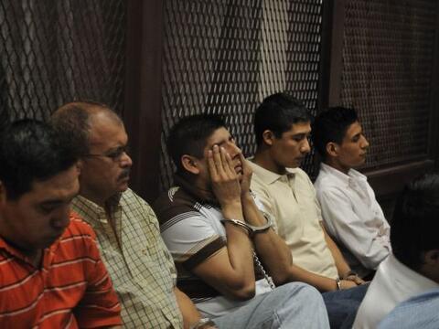 Un tribunal de Guatemala condenó a penas de ocho a 313 años de prisión a...