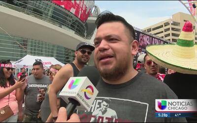 Fans dan sus impresiones de la pelea de Canelo vs Khan