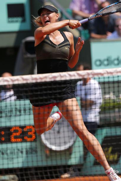 La rusa María Sharapova infligió un duro castigo a la rumana Alexandra C...