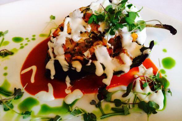 En el restaurante Pompano, el conductor disfrutó de este delicioso chile...