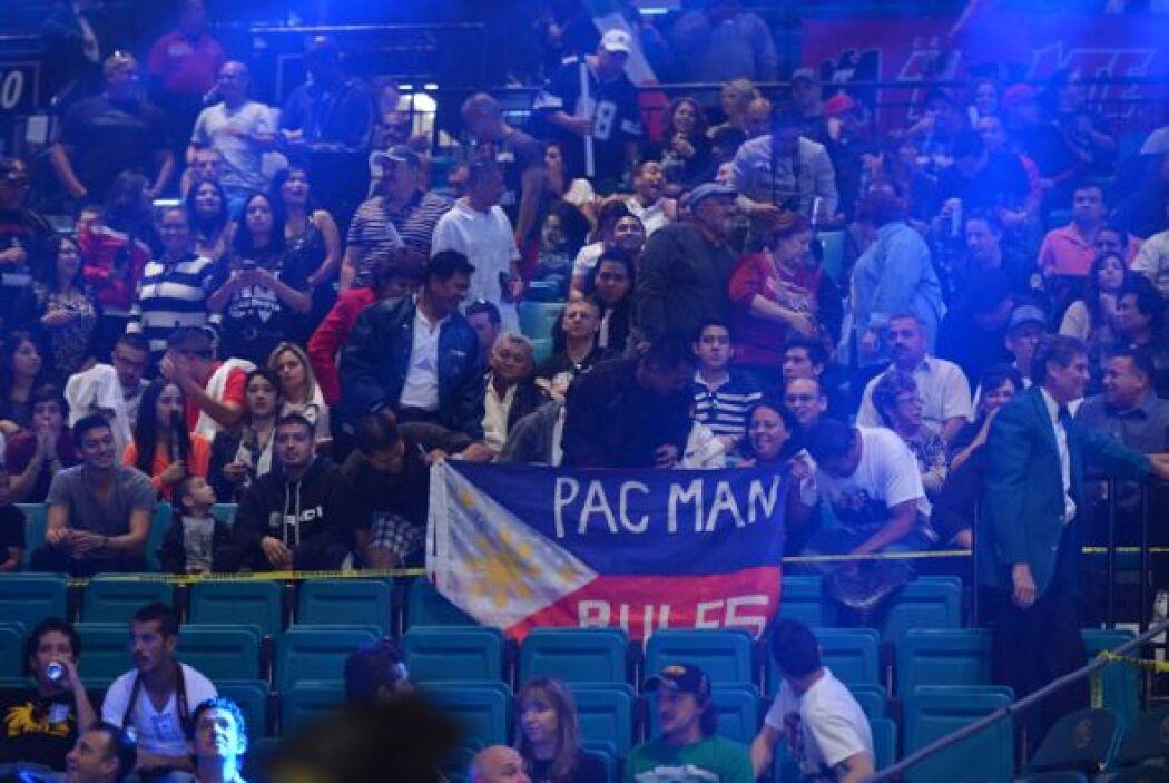 Los filipinos se volcaron a favor de Pacquiao.