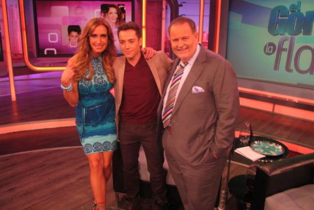 En el estudio de Miami, Raúl y Lili le dieron la bienvenida a Pee Wee.