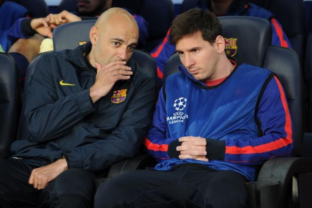 La gran nota previa al juego fue que Lionel Messi se quedó en el banco,...