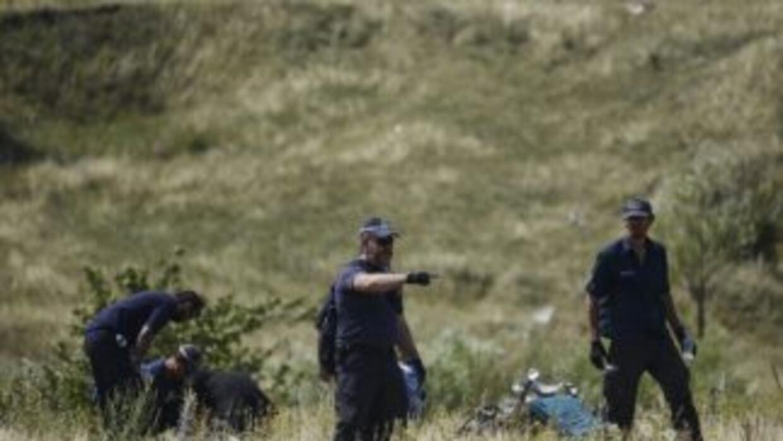 Expertos holandeses examinan la zona del accidente del Malaysia Airlines...